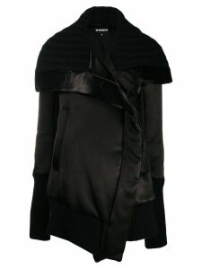 Ann Demeulemeester sweater accent oversized coat - Black