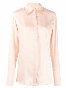 Victoria Victoria Beckham classic long sleeve shirt - PINK