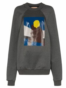 Plan C Boy print sweatshirt - Grey