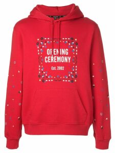 Opening Ceremony bandana box logo hoodie - Red