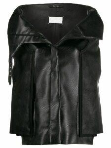 Maison Margiela cocoon faux leather jacket - Black
