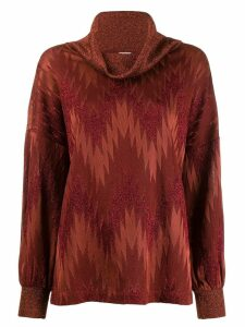 Missoni zig zag print jumper - ORANGE