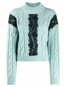 Brognano lace appliqué jumper - Blue