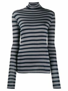Semicouture striped roll neck sweater - Grey