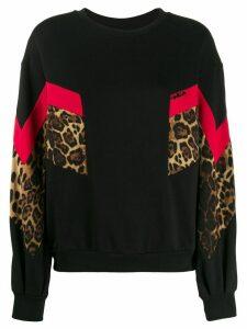 Gaelle Bonheur colour-block sweatshirt - Black