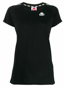 Kappa logo print T-shirt - Black