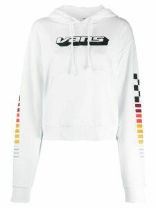 Vans logo drawstring hoodie - White
