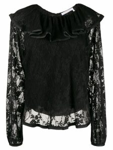 See by Chloé ruffled neck blouse - Black