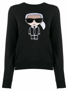 Karl Lagerfeld embroidered Karl sweatshirt - Black