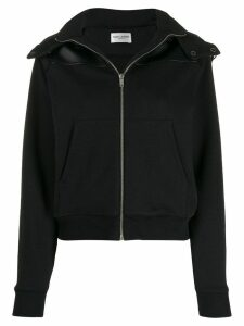 Saint Laurent panelled hooded jacket - Black