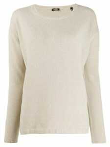 Aspesi round-neck knit sweater - Neutrals