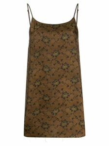 Uma Wang loose-fit flower print top - Brown