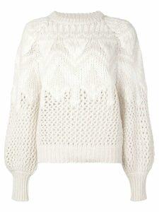 Brunello Cucinelli open knit jumper - White