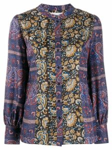 Antik Batik floral silk blouse - Blue