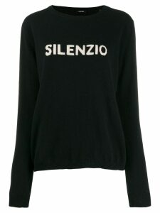 Aspesi crew-neck logo sweater - Black
