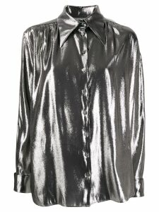 Alberta Ferretti metallic loose-fit shirt - SILVER