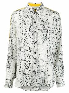 8pm snakeskin effect shirt - White
