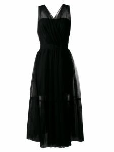 Pinko tulle overlay dress - Black