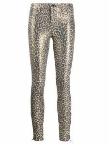 J Brand leopard print skinny trousers - NEUTRALS