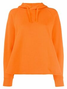YMC stitched cotton hoodie - ORANGE