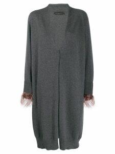 Fabiana Filippi embellished cuff cardigan - Grey