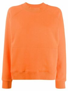 YMC long sleeved cotton sweater - Orange