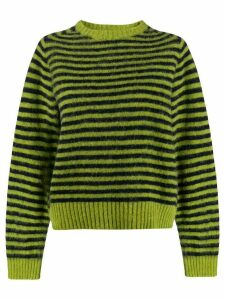 YMC striped knitted jumper - Green