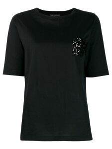 Fabiana Filippi embellished short-sleeve top - Black
