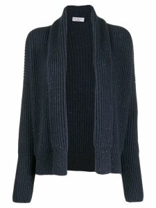 Brunello Cucinelli speckled knit cardigan - Blue