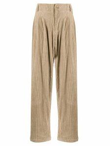 YMC straight leg corduroy trousers - NEUTRALS