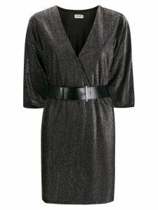 LIU JO wrap V-neck dress - Grey