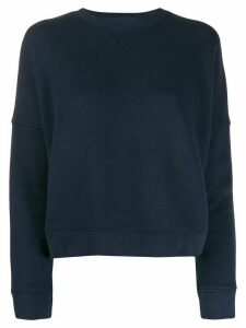 YMC stitched detail sweater - Blue