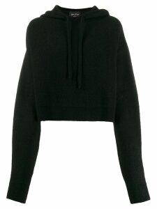 Andrea Ya'aqov knitted hoodie - Black