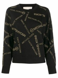 Michael Michael Kors all-over logo print sweater - Black
