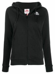 Kappa logo drawstring hoodie - Black