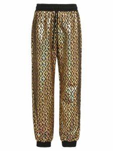 Gucci rhombus logo metallic track pants - Black