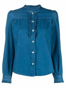 A.P.C. long-sleeve denim blouse - Blue