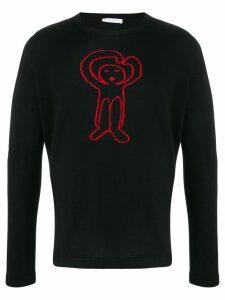 Société Anonyme knitted logo jumper - Black