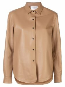 Carmen March lambskin shirt - NEUTRALS