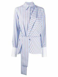 Victoria Victoria Beckham wrap front shirt - Blue