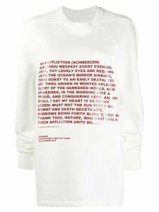 Rick Owens DRKSHDW printed sweatshirt - White