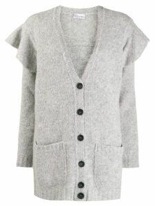 RedValentino ruffle details cardigan - Grey