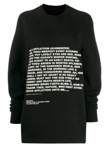Rick Owens DRKSHDW printed sweatshirt - Black