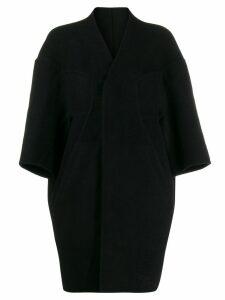 Rick Owens collarless oversized coat - Black