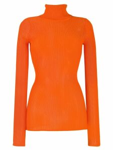 Victoria Victoria Beckham slim fit turtleneck top - ORANGE