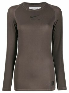 1017 ALYX 9SM x Nike raglan-sleeves logo top - Brown