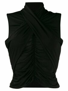 UNRAVEL PROJECT ruched detail blouse - Black