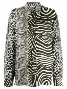 Pierre-Louis Mascia exotic animal print shirt - Black