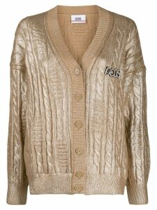 Gcds metallic knit cardigan - Gold