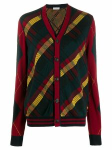 Pierre-Louis Mascia knitted check cardigan - Blue